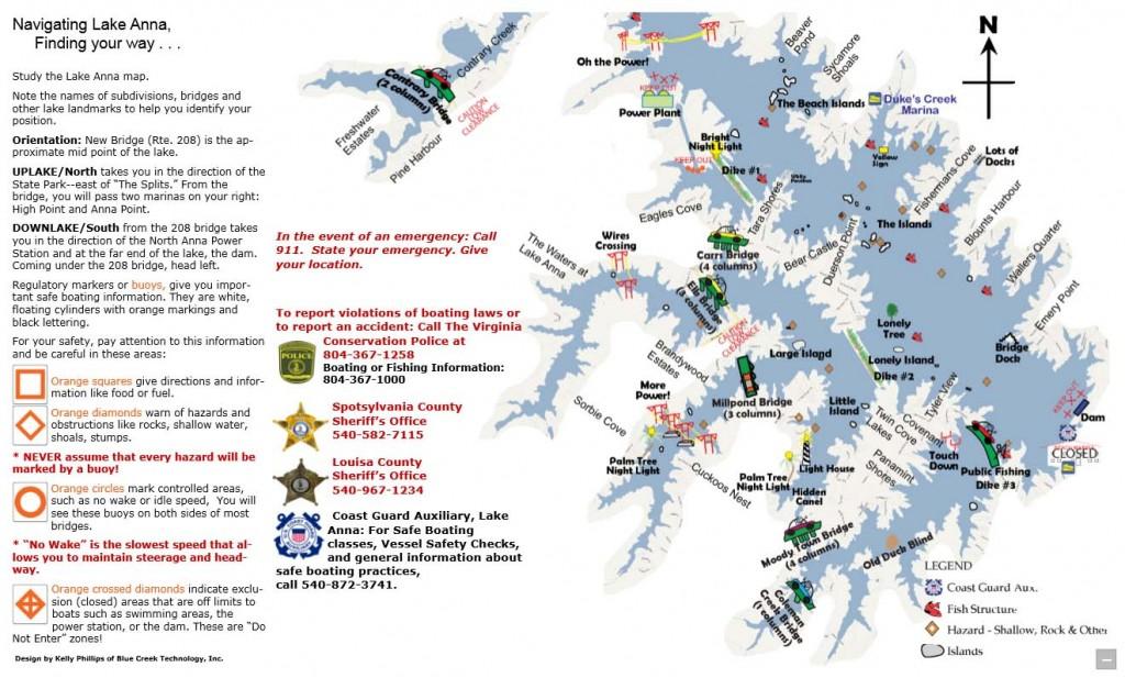 Lake Anna Map Virginia Lake Anna Rentals